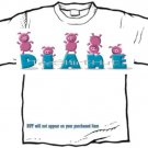 T-shirt, Your Name in CHUNKY PINK PIGS  - (youth & Adult Sm - xLg)
