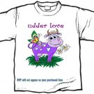 T-Shirt, UDDER LOVE, purple cow #1 - (Adult xxLg)