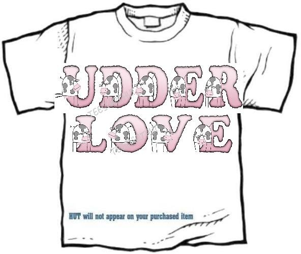 T-shirt Your Name in UDDER LOVE cows, #2 - (Adult 4xLg - 5xLg)