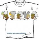 T-shirt YOUR NAME in DINOSAURS - (youth & Adult Sm - xLg)