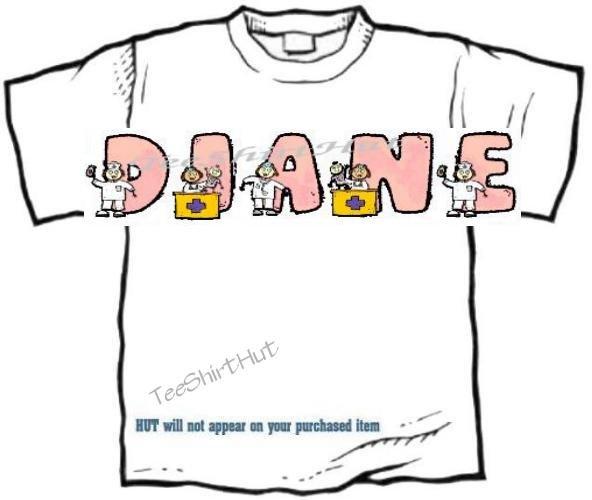 T-shirt, Your Name in NURSES, Medicine, ER - (Adult 3xlg)