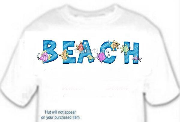 T-shirt Your Name in TROPICAL FISHIES - (Adult 4xLg - 5xLg)