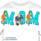 T-shirt, Football MOM, players, tackle - (Adult 3xlg)