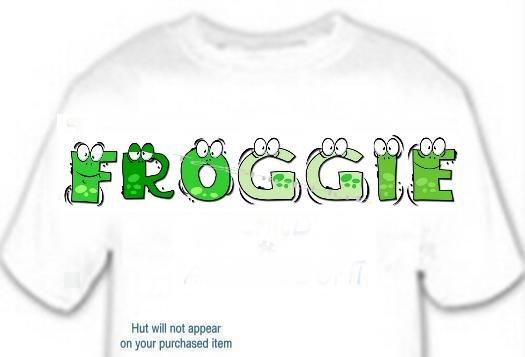 T-shirt, Feelin FROGGIE? your Name in FROGGIE - (Adult xxLg)