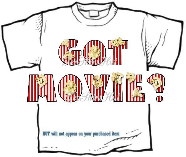 T-shirt GOT MOVIE?, popcorn, or PERSONALIZE w 1st Name - (Adult 3xlg)