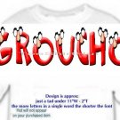 T-shirt, YOUR NAME in GROUCHO, glasses, nose - (Adult 3xlg)