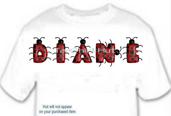 T-shirt, Your Name in LADYBUGS, lady bugs, #1 - (Adult 3xlg)