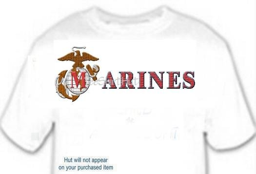 T-shirt, Your in Name in MARINES - (adult 3xlg)