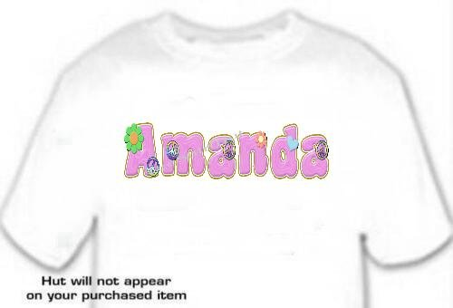 T-shirt, Your Name in PEACE signs & FLOWERS - (adult Xxlg)