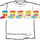 T-shirt, Your Name in PLAY CLAY, doh - (Adult 4xLg - 5xLg)
