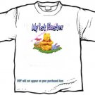 T-shirt , MY 1st EASTER, colored eggs, rabbit  - (adult 3xlg) - personalize w/any 1st name