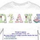 T-shirt YOUR NAME in SEWING buttons pin cushion, needle - (youth & Adult Sm - xLg)