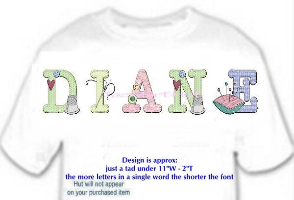 T-shirt YOUR NAME in SEWING buttons pin cushion, needle - (Adult 4xLg - 5xLg)