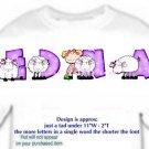 T-shirt , Counting SHEEP, baaaaaa, - (adult 3xlg)