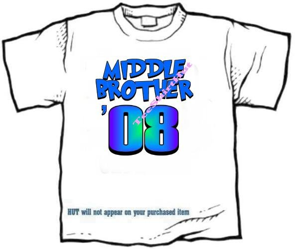 T-shirt , MIDDLE BROTHER, '08 - (adult 3xlg)