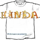 T-shirt, Your Name in GIRAFFE, long neck - (Adult 4xLg - 5xLg)