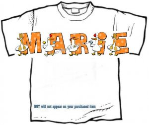 T-shirt, Your Name in SILLY GOOSE, - (youth & Adult Sm - xLg)