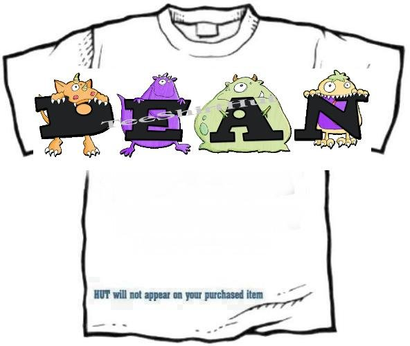 T-shirt, Your Name in the BOOGIE MONSTERS - (youth & Adult Sm - xLg)