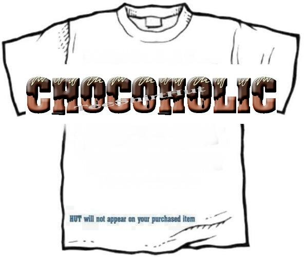 T-shirt, Your Name in CHOCOLATE - chocoholic - (adult Xxlg)