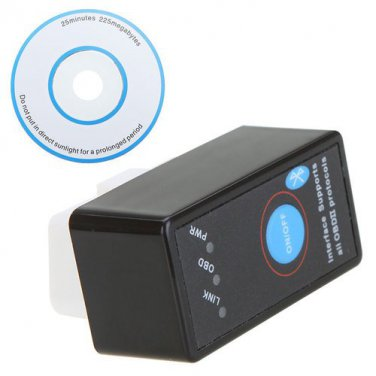 Mini ELM327 Bluetooth OBD2 Car Diagnostics Scanner + Switch