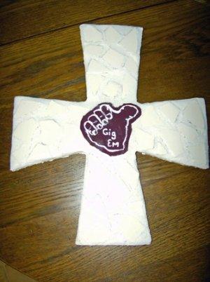 Gig Em Aggie Cross