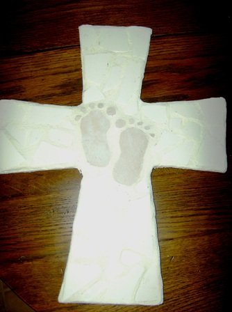 Baby Pink Feet Cross