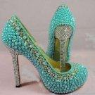 Tiffany blue pearl pump