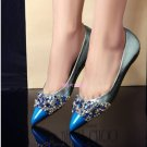 Blue Ombre and crystal flat