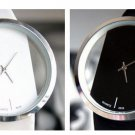 women casual white & black wristwatches leather vintage watch sale