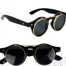New Black Round Retro Sunglasses Men Women Polarized Leopard Vintage Eyeglasses