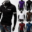 New Casual Men's Stylish Slim Short Sleeve Shirts Fit Checked polo Shirts Offers