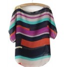 Women shirt Multi-colour Chiffon casual blouse Irregular Chiffon Shirt Tops
