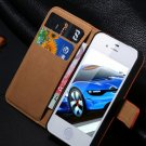 Luxury leather Case for iPhone 4s 5s Flip cover with card holder hybrid wallet for iphone Covers