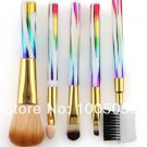 2015 excellent 5 colors rainbow eyes Makeup Brushes Kit