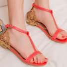 Fashion Women Sandals New Summer Flat Heel Casual Shoes T Straps