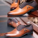 Mens Shoes 2015 PU Leather Solid Black Brown Yellow Office Dress