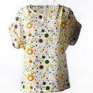 Women Chiffon Blouse Batwing Sleeve Shirt Top Outwear