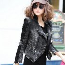 women Punk spike studded shrug shoulder Jacket Blazer
