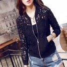 Women Embroidery Lace Jacket Top Blazer Shiny Touch