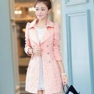 Women Elegant Warm Slim Trench Full Sleeve Coat Blazer