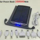 100000 MAH USB EXTERNAL SOLAR BATTERY POWER BANK CHARGER