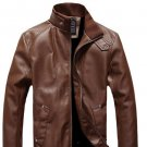Men Geniune Leather Large Size Brown Jacket Coat Outwear Best Choice