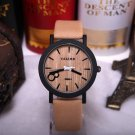 Men Wood +Leather Made Wrist Hand Watche Casual With Leather Strap Watches