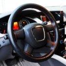 Universal Anti-slip BreathablePU Leather DIY Car Steering Wheel Cover Case