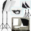 Stuido Box set light Photography flash softbox reflector Kit+lamp holder lamps