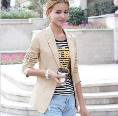 Women Slim Coat Long Sleeve female Outerwear Casual Jackets coat
