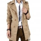 2015 Autumn Trench Coat Men Double Breasted Trench Coat