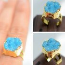 Natural Stone Agate Crystal Brand Women Rings