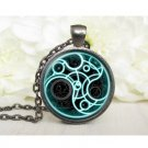 Blue Colour Glow Fashion Pendants and Necklace