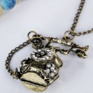 Vintage Alloy Telephone Pendant Necklaces Sweater Chains